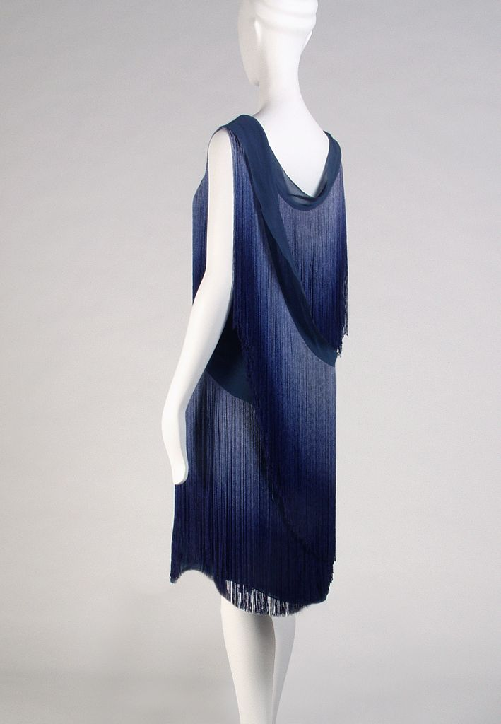 Evening Dress With Ombred Silk Fringe Coco Chanel 1926 The