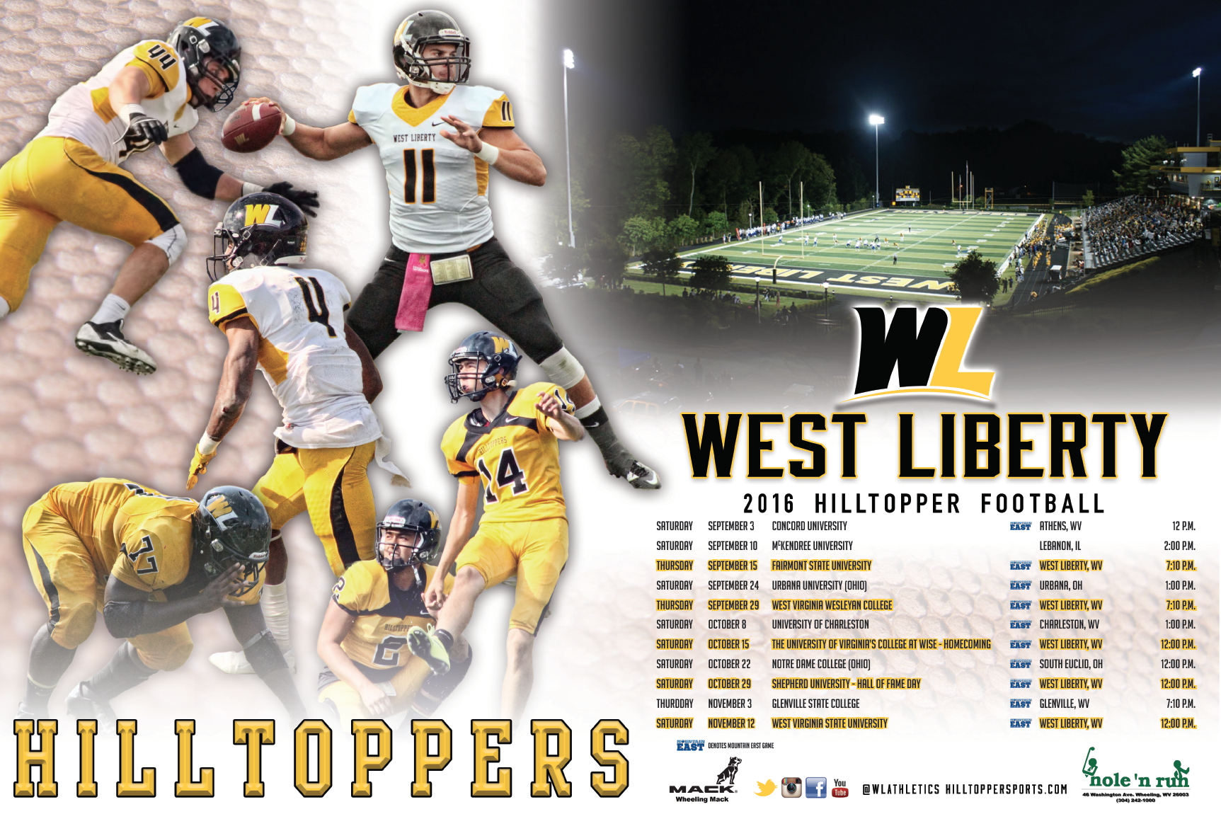 West Liberty Football schedule poster (With images) West