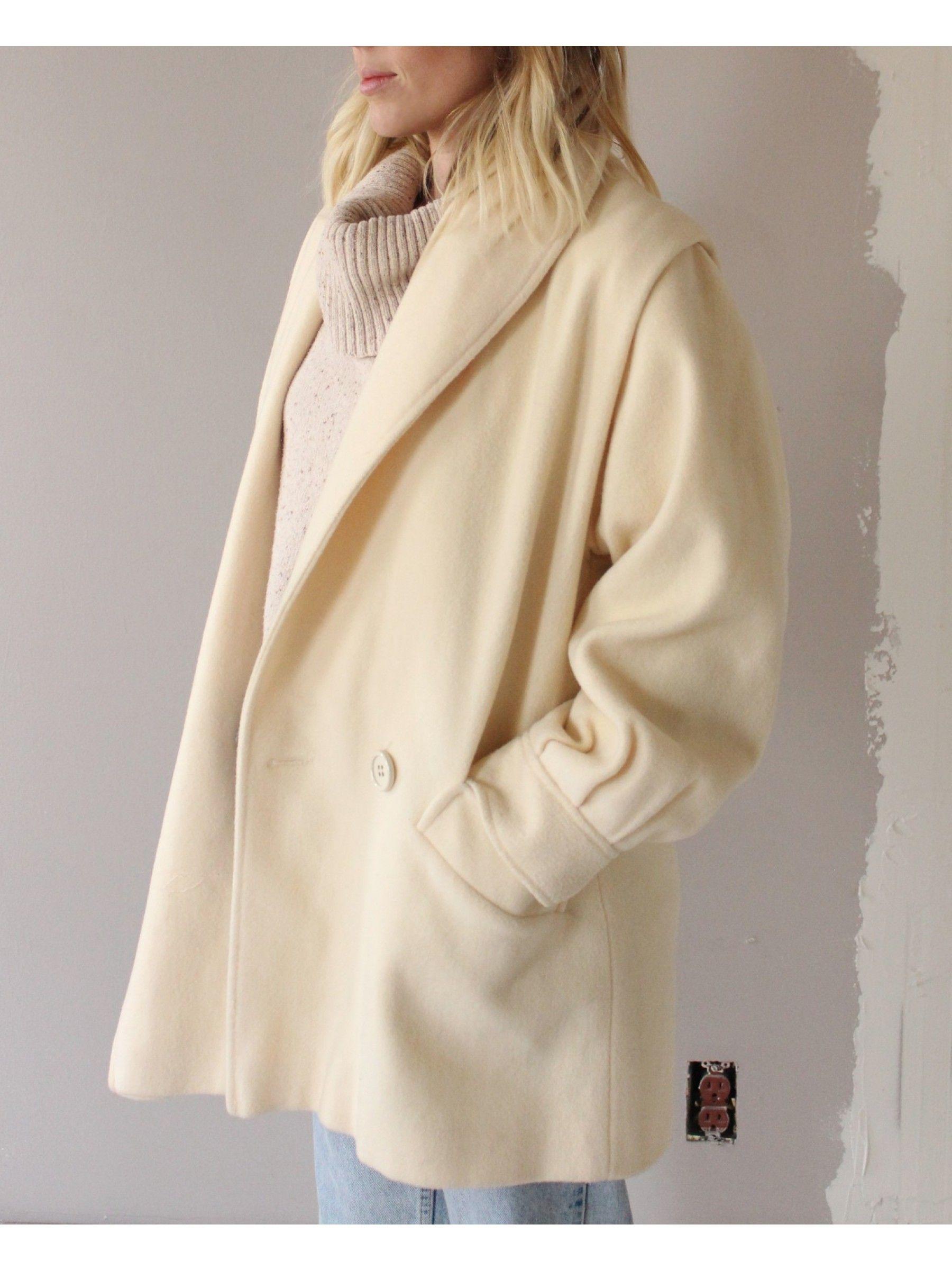Vintage Cream Wool Coat | dear society shop | Pinterest | Wool ...