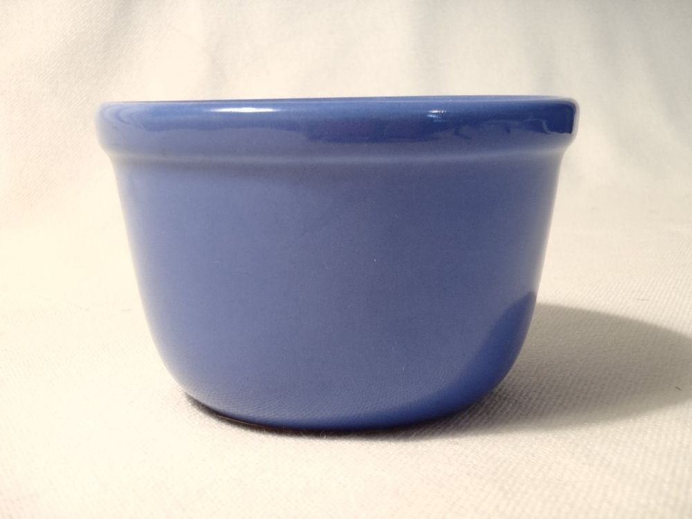 """Vintage American """"Oxford"""" Ware Pottery Bowl, Stacking, Small Blue 4.25""""x 2.75"""""""