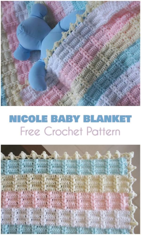 Nicole Baby Blanket [Free Crochet Pattern and Video Tutorial] | Bebe ...