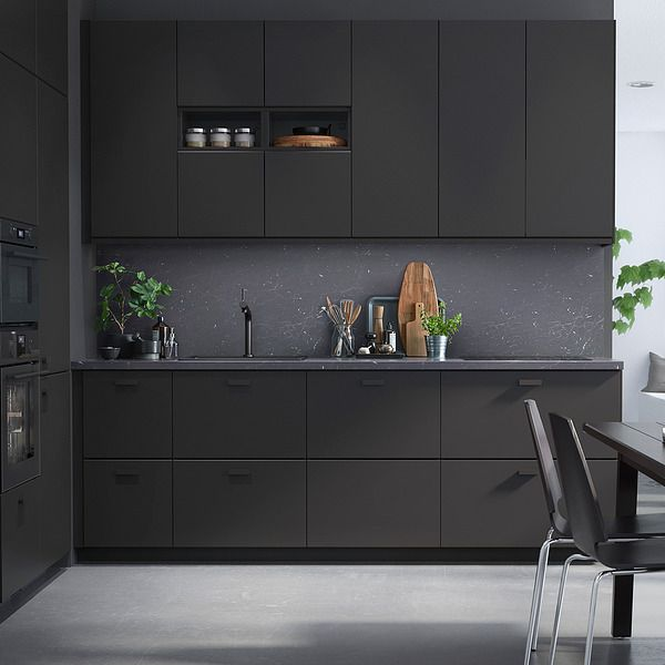 IKEA Anthracite Kitchen Cabinets + Black Hardware | Project 2 ...