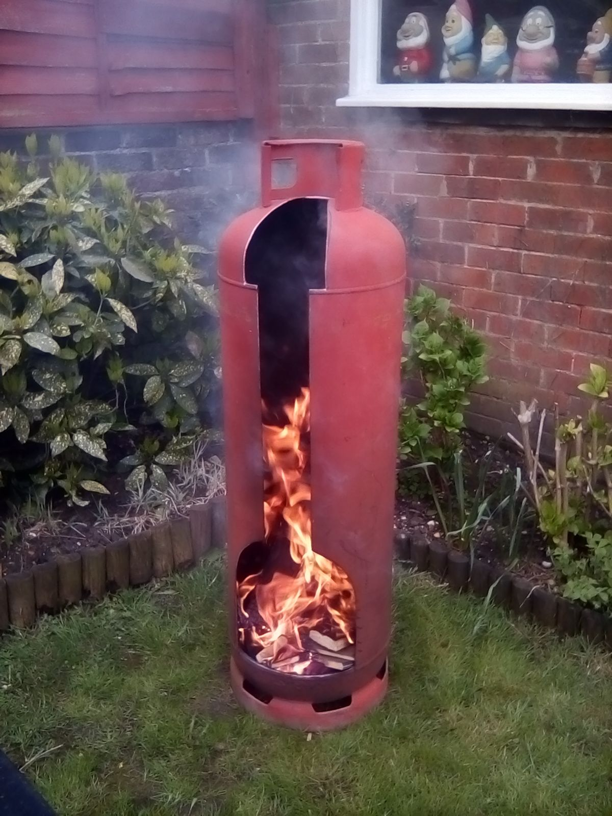 47kg Gas Bottle Enjoyed Making This Wood Fire Pit Outdoor