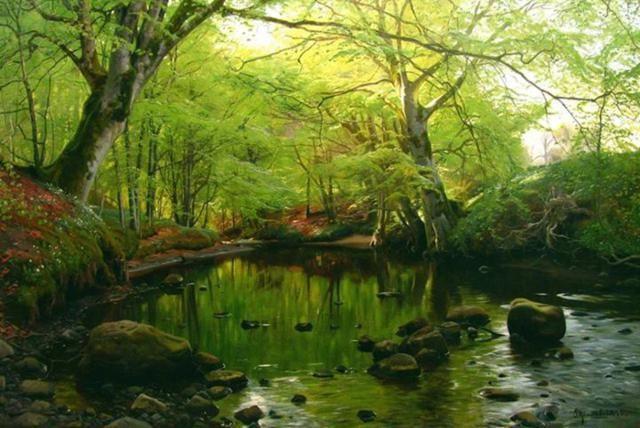 Realistic Landscape Oil Paintings By Peder Monsted Fine Art Blogger Oil Painting Landscape Landscape Painting Artists Landscape Paintings