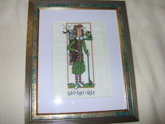 Embroidered Picture Golf, Golf, Golf 8 X 10 sz