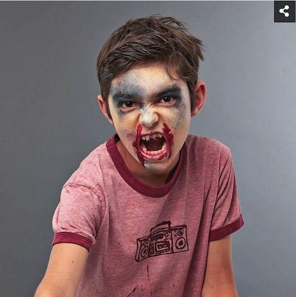 Cómo hacer un maquillaje de zombie para Halloween - maquillaje de halloween para nios