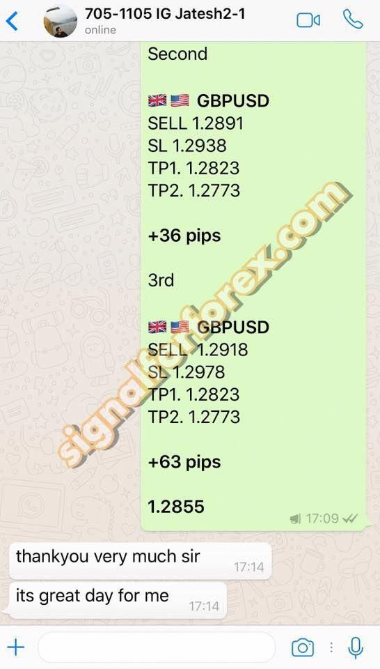 Total 99 Pips Net Profit Contact Us For Best Forex Signals Via