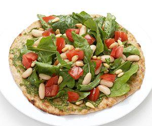 Vegan Pesto Pizza Salad