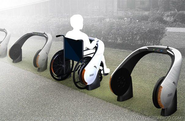 Motorized Wheelchair + Desk