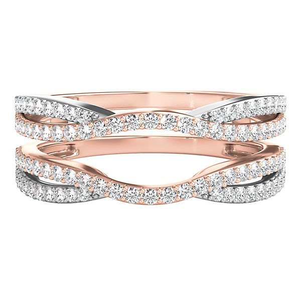 Shop Our 1 2 Ct Tw Diamond Ring Enhancer In 10k Rose Gold Browse Our Rings At Helzb Buy Wedding Rings Unique Diamond Engagement Rings Wedding Ring Enhancers