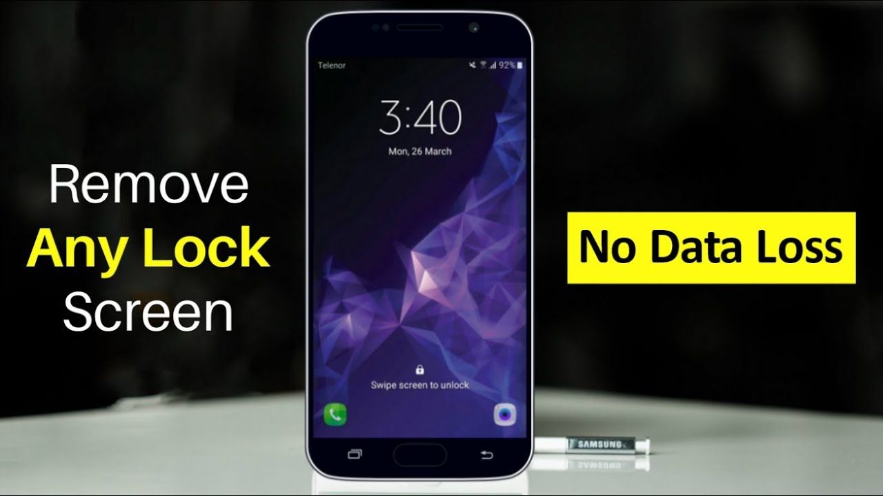 Unlock Samsung Lock Screen Pattern Pin Password And Fingerprint