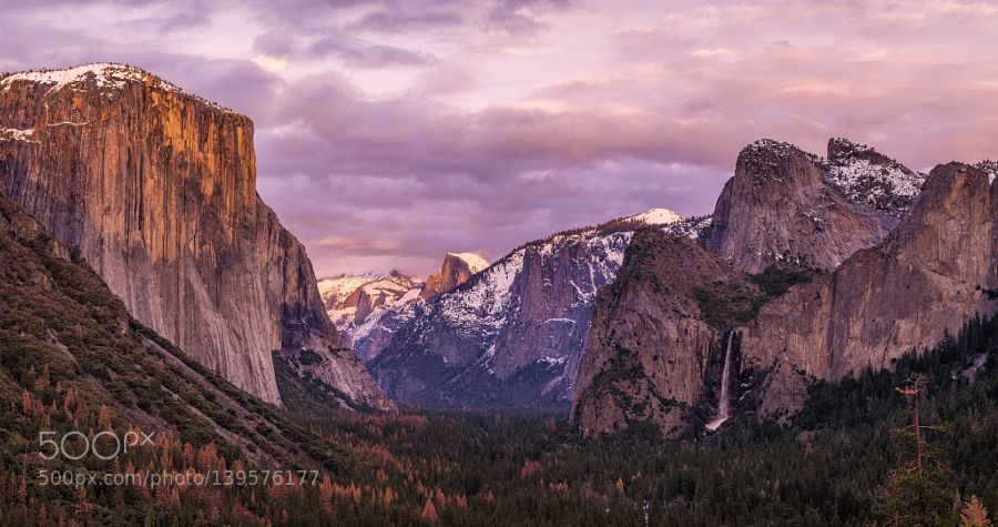 Yosemite Panorama by tchebotarev. Please Like http://fb.me/go4photos and Follow @go4fotos Thank You. :-)