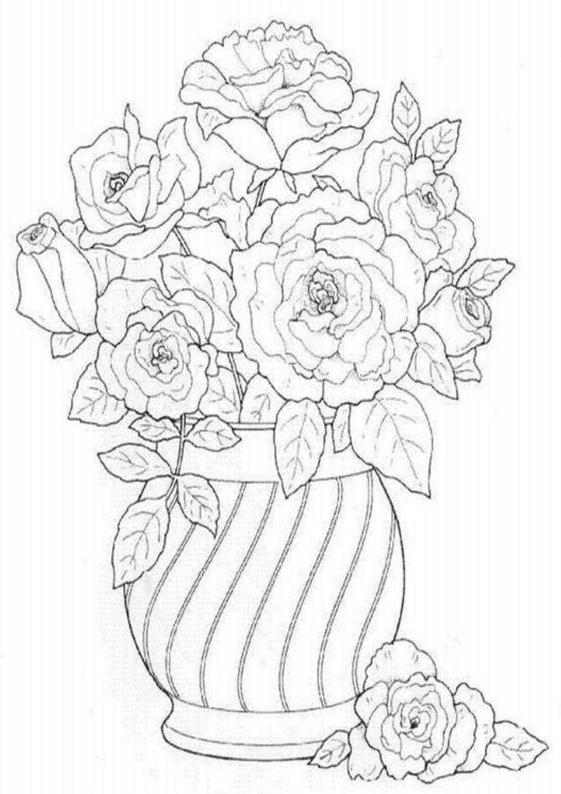 Kolorowanka Kwiaty Szukaj W Google Super Coloring Pages Coloring Pages Rose Bouquet