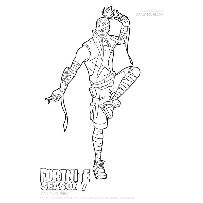 Fortnite Fortnite Kenji Skin Fortnite Item Shop Fortnite Battle Royale Fortnite Kuno Skin Fortnite Season 8 Ken Coloring Pages Coloring Pages For Boys Drawings