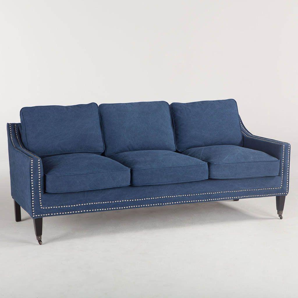 Rachelle 3 Seat Sofa Blue Products Sofa Buy Sofa 3 Seater Sofa