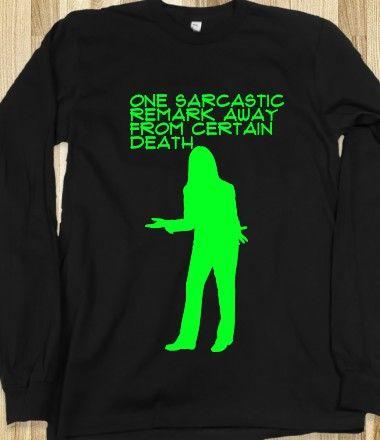Sarcasm sweat shirt