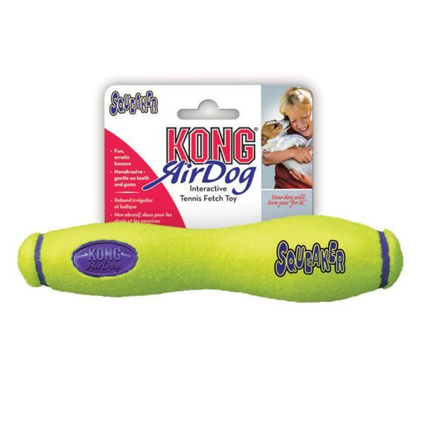 Kong Air Dog Floating Squeaker Stick Toy 2 Sizes Beach Doggies
