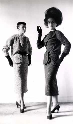 Cristóbal Balenciaga, deux ensembles d'après midi en dentelle de laine, 1952