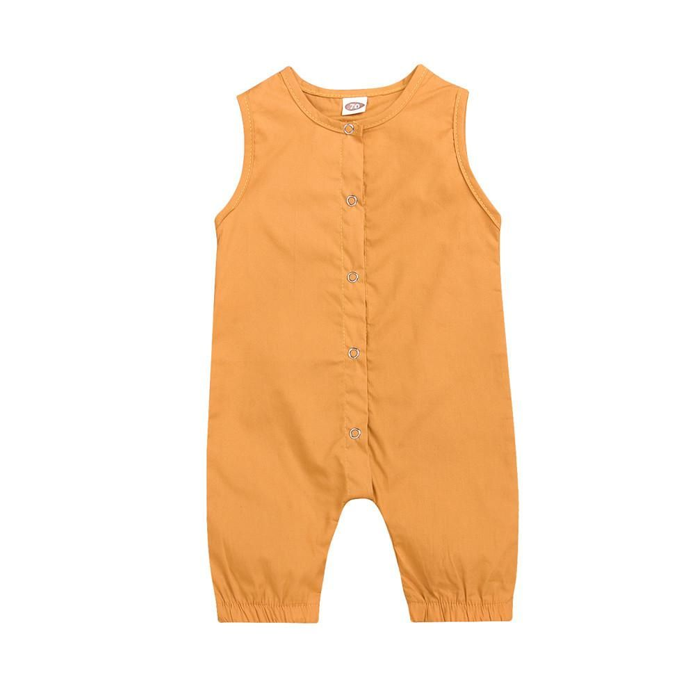 217994b07 Baby Rompers Newborn Infant Baby Boys Girls Romper Solid Sleeveless  Jumpsuit Outfits Clothes Casual Summer Cool. Yesterday's price: US $7.36  (6.49 EUR).