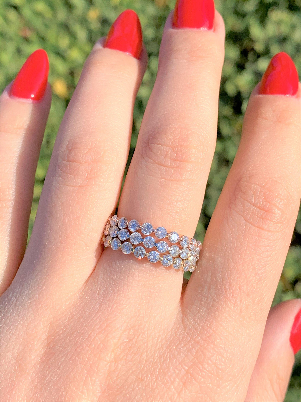 0.75CT Diamond Shared Single Prongs Round Diamonds Half