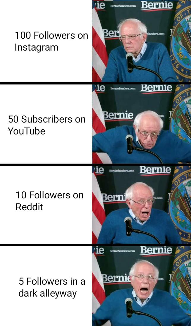 Followers Bernie Sanders Iowa Victory Speech Reactions Memes Funny Memes Dungeons And Dragons Memes