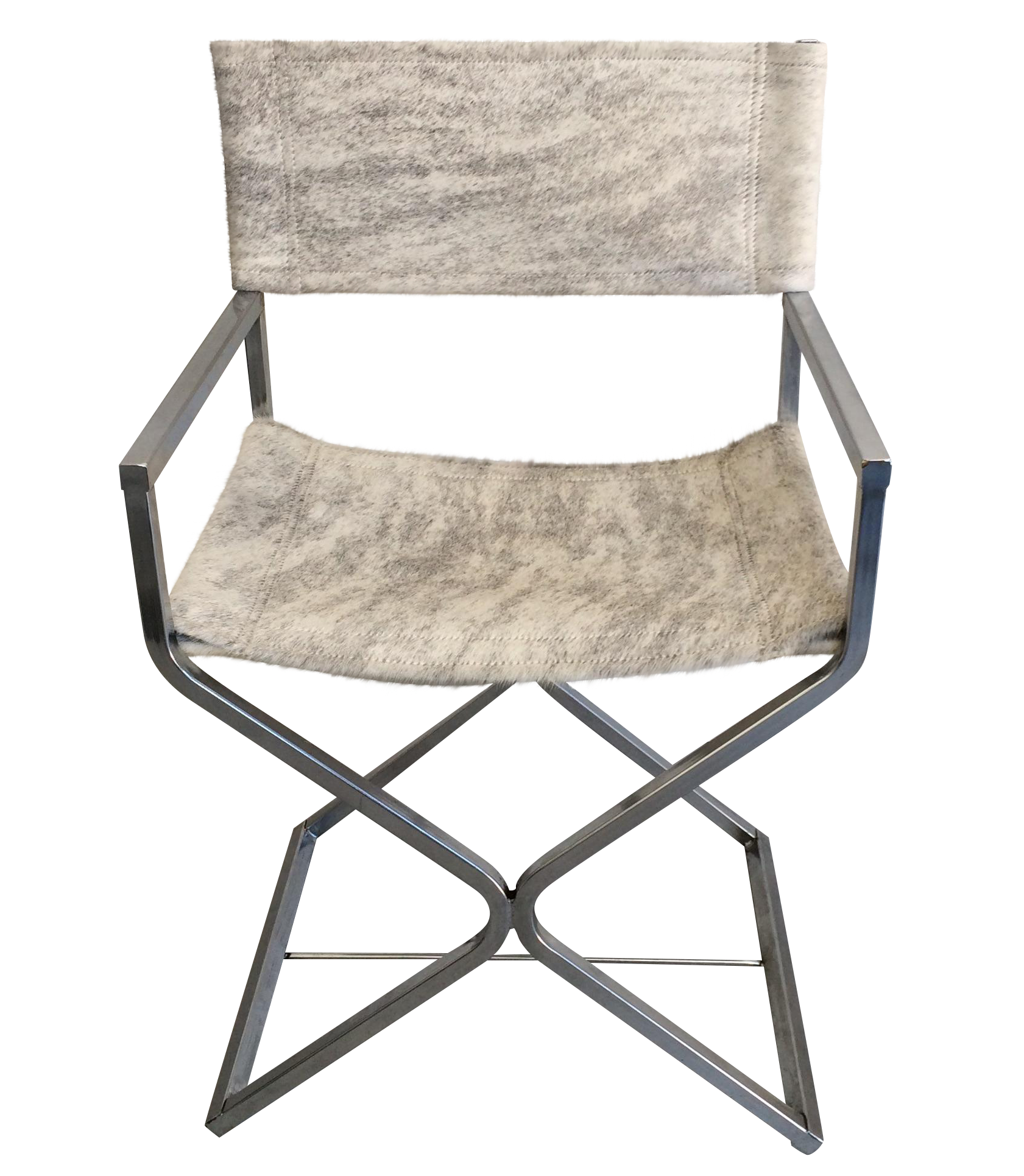 Directors chair png - A Steel Chrome Plate Square Tubular Directors Chair Designed By Robert Jakobsen For Virtue Brothers