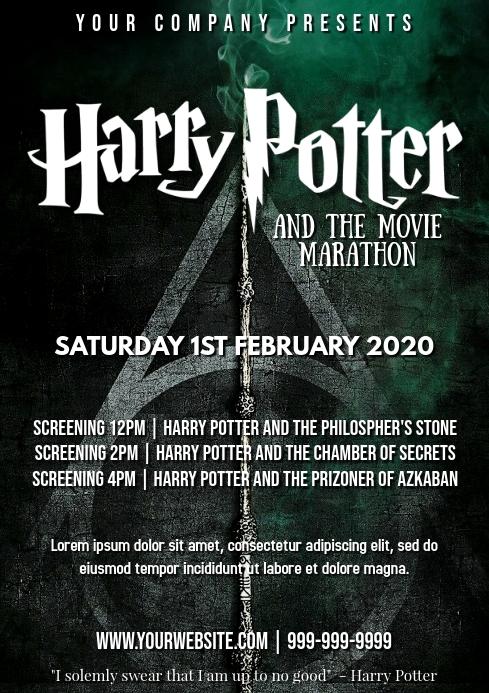 490 Frozen Movie Night Customizable Design Templates Postermywall In 2020 Harry Potter Harry Potter Movies Movie Marathon