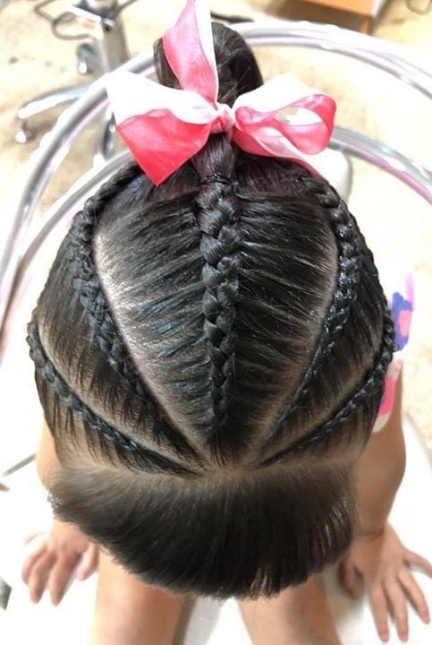 Clásico y sencillo peinados divertidos para niñas Imagen de cortes de pelo Ideas - Pin de Geneb en Trenza | Peinados infantiles, Peinados con ...