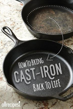 How To Clean A Cast Iron Pan Cleaning Cast Iron Pans Cast Iron