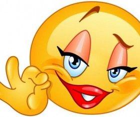 Ok Sign Female Emoticon Icon Funny Emoticons Emoticons Emojis Emoticon