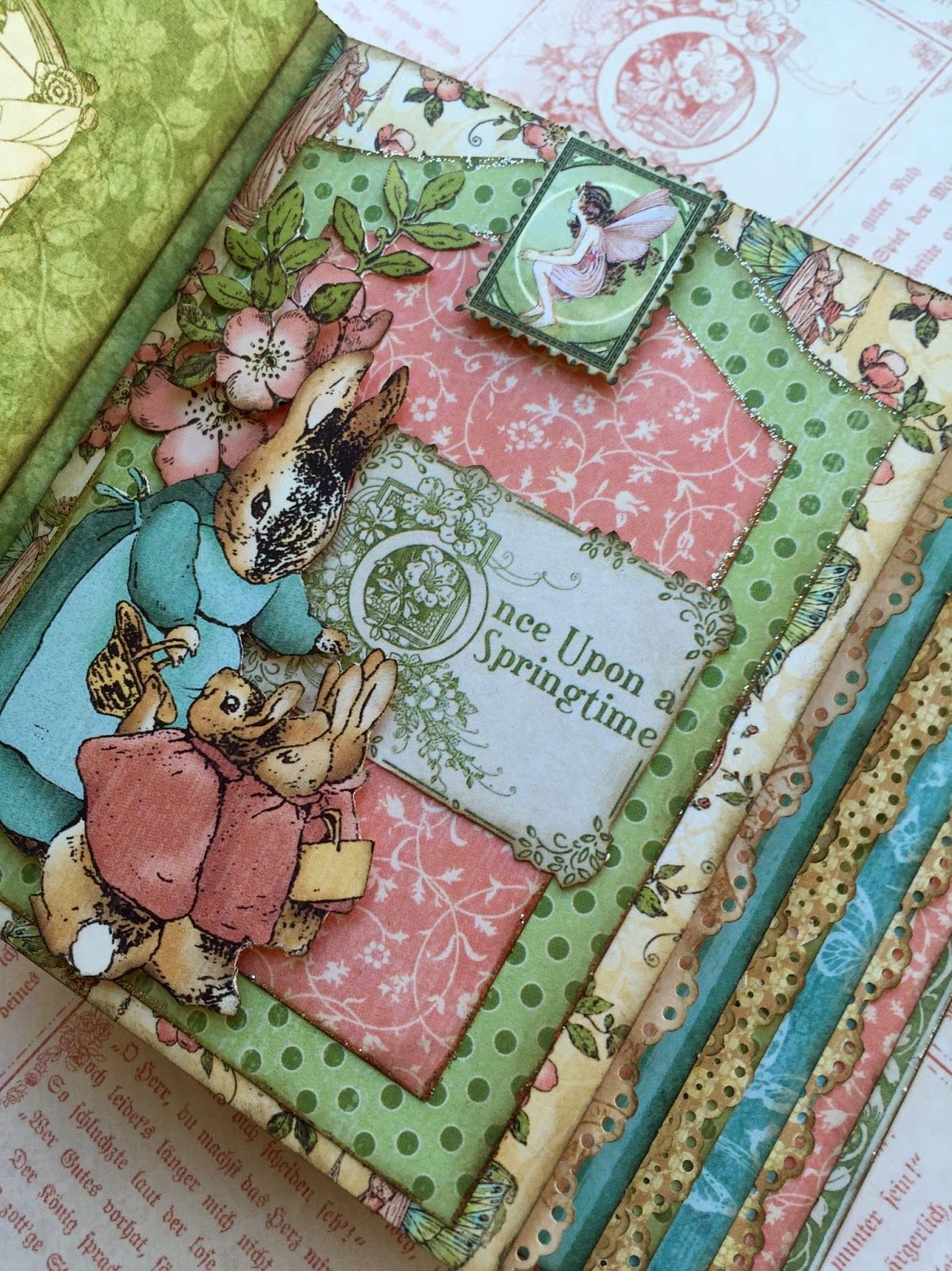 Graphic 45 Once Upon a Springtime mini album class by Maria Cole.