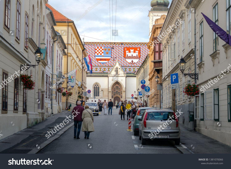 Zagreb U002f Croatia December 2018 St Mark S Church Is The Famous Landmark Of Croatia At Zagreb Upper Town The Church S R Zagreb Croatia Zagreb Croatia