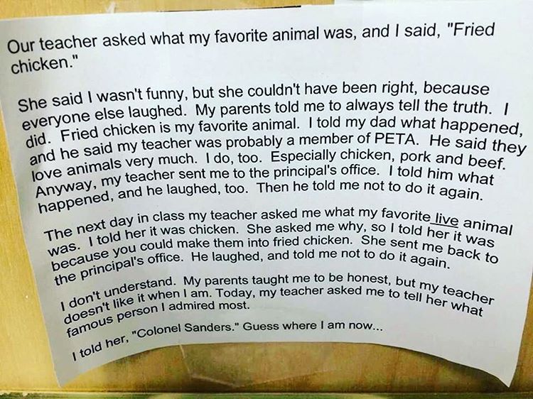 """""""I laughed out loud when I read this. I am posting it because it is funny not because I hate chickens....."""""""