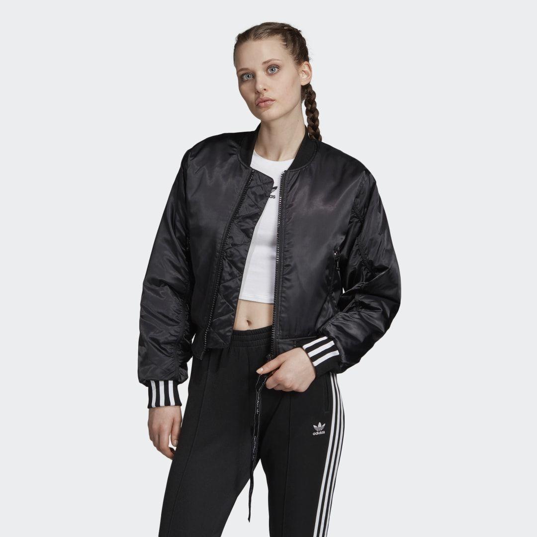 Adidas Cropped Bomber Jacket Black Adidas Us In 2021 Cropped Bomber Jacket Black Bomber Jacket Cropped Bomber [ jpg ]
