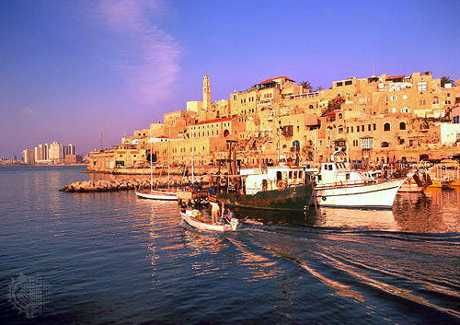 The ancient port of Jaffa-Tel aviv/ Israel