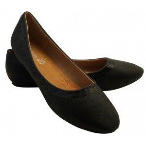 Ballerines Noche noir grande pointure 14E | Chaussure grande