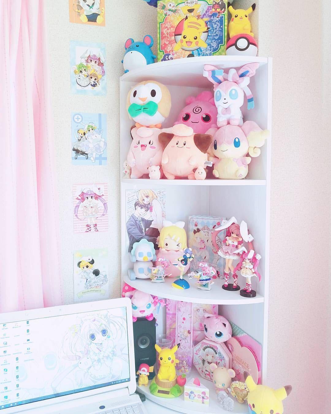 Pin By Viv Blu On Aesthetic In 2019 Otaku Room Room Decor Kawaii Bedroom Otaku Room Cute Room Ideas