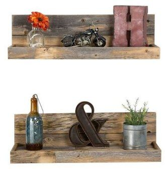 Rustic Home Decor Farmhouse 2 Piece Reclaimed Floating Shelf Set Wood Floating Shelves Floating Shelves Floating Shelves Diy