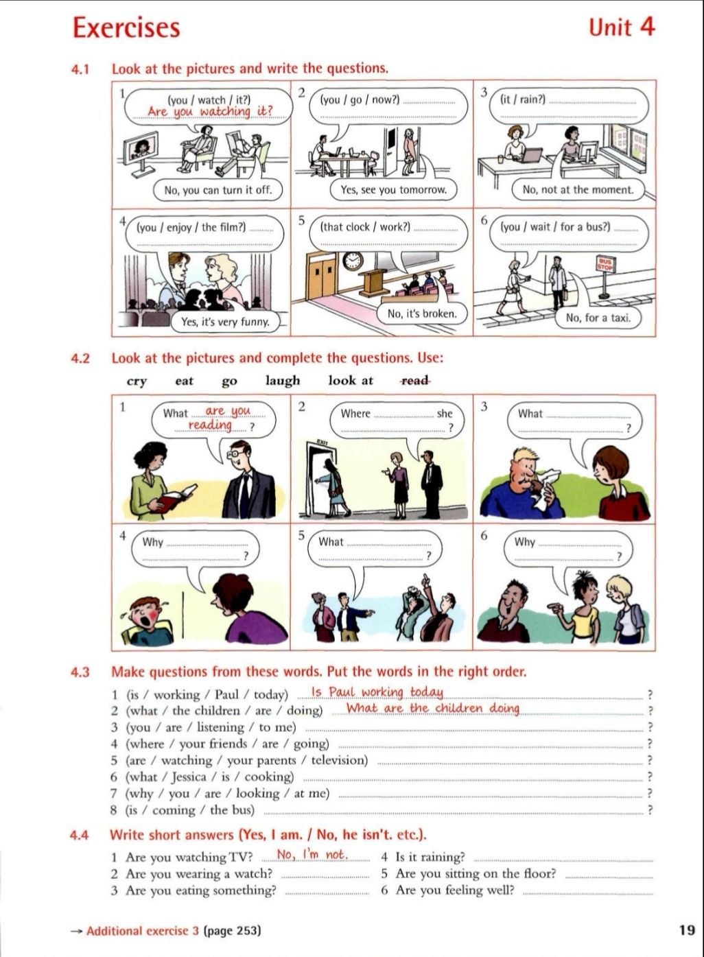 French Grammar Worksheet Unit 4