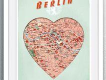 Herz BERLIN anno 1904... A4 Print