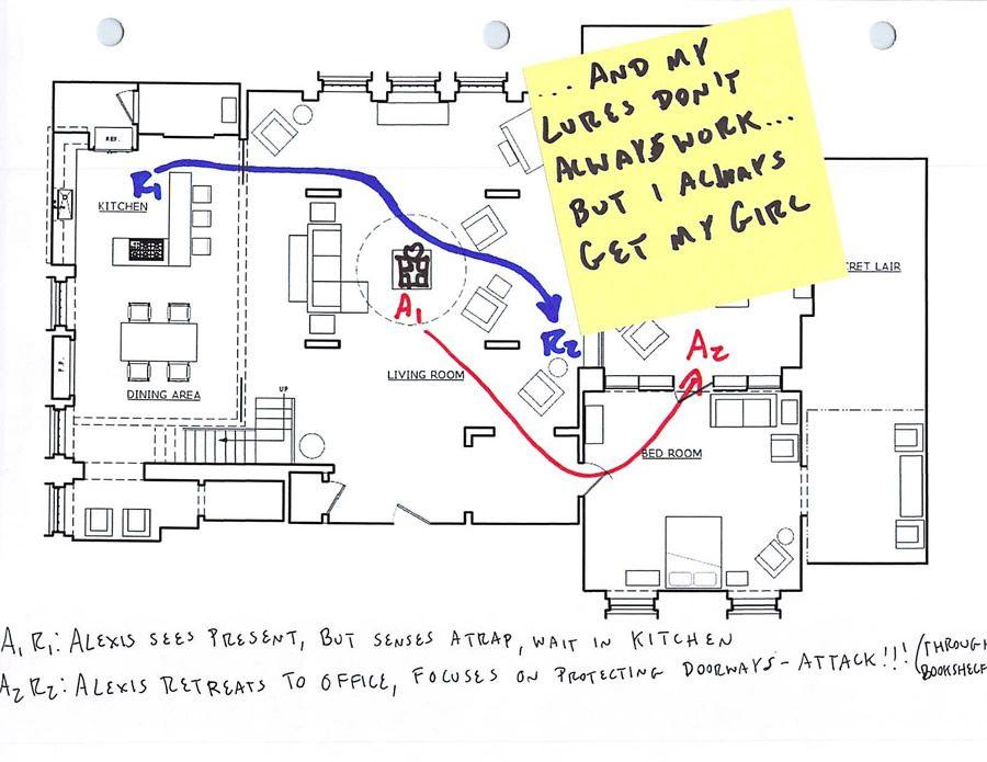 Richard Castle Floor Plan