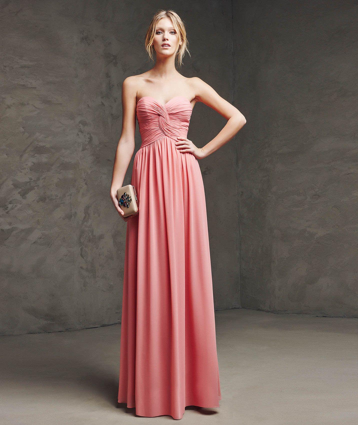 Vestido de gasa de fiesta | Dresses | Pinterest | Neckline, Party ...