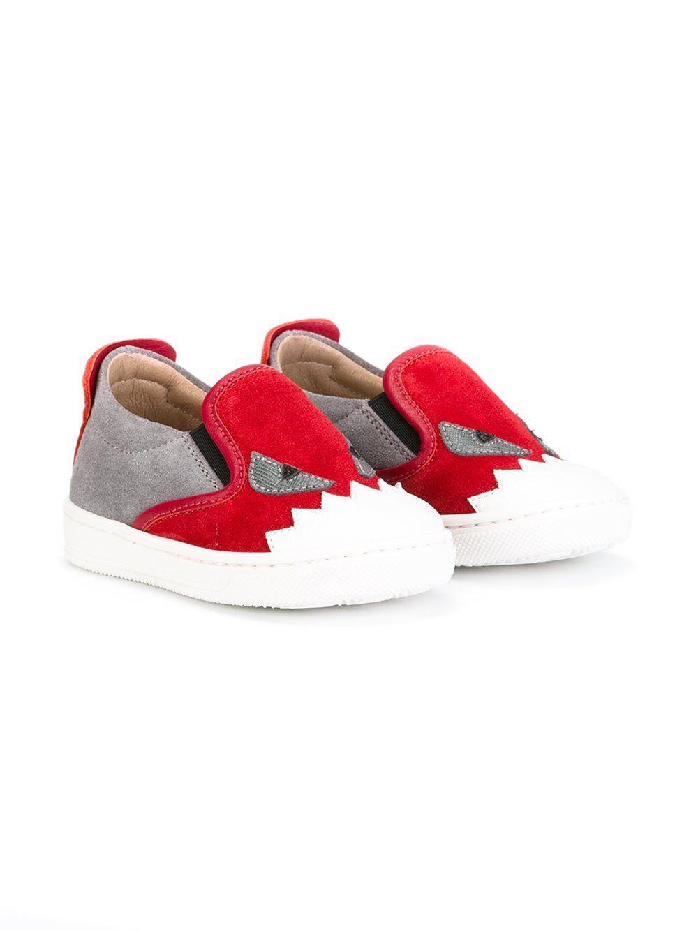 fendi  bagbugs  sneakers  red  slipon  kids  shoes  new www.jofre.eu ... f43783db866