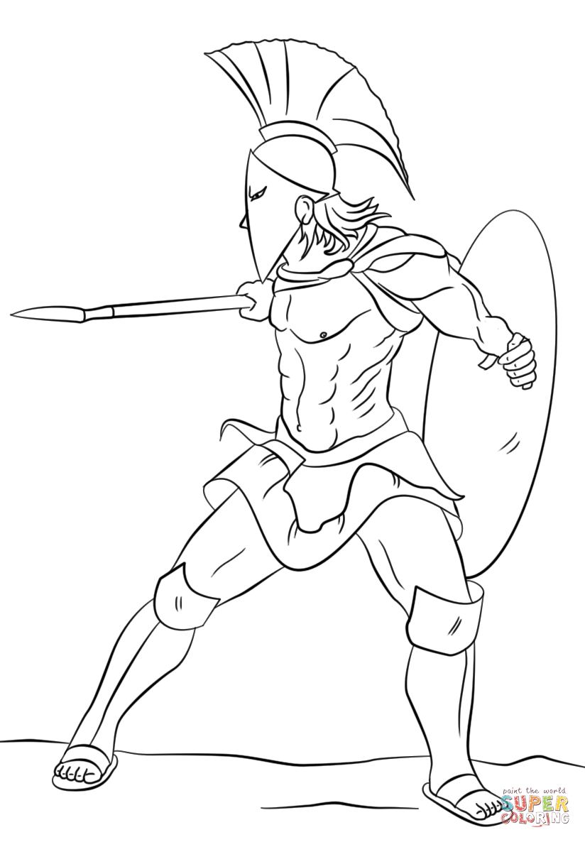 warrior coloring pages for kids - photo#2