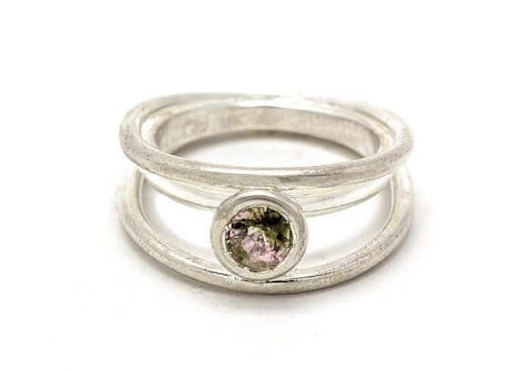 Tourmaline Ring  925 sterling silver with a by snirjewelry on Etsy
