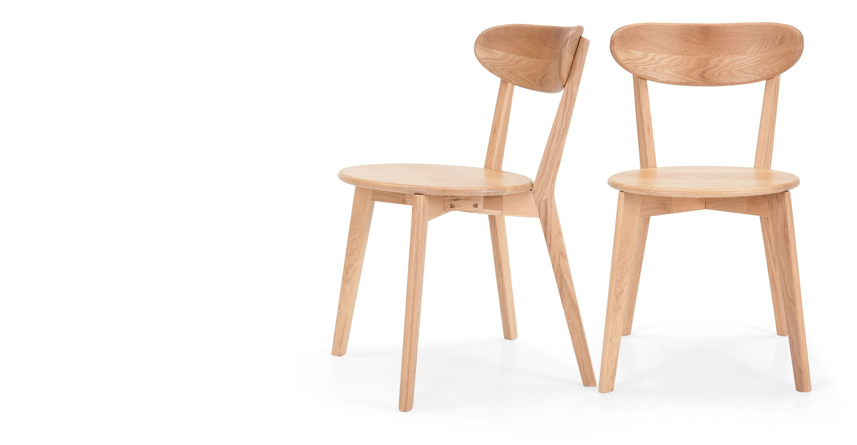 Set di due sedie Fjord, rovere