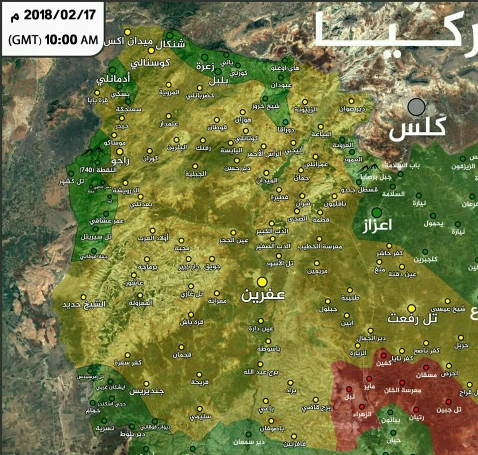Aleppo map Latest battle update from northern