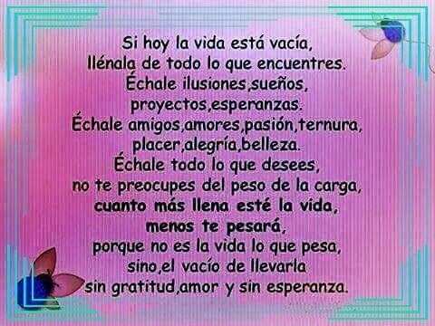 Llena tu vida!!! Feliz Viernes!!! #anabelycarlos #unanuevaetpa #mividaesbella