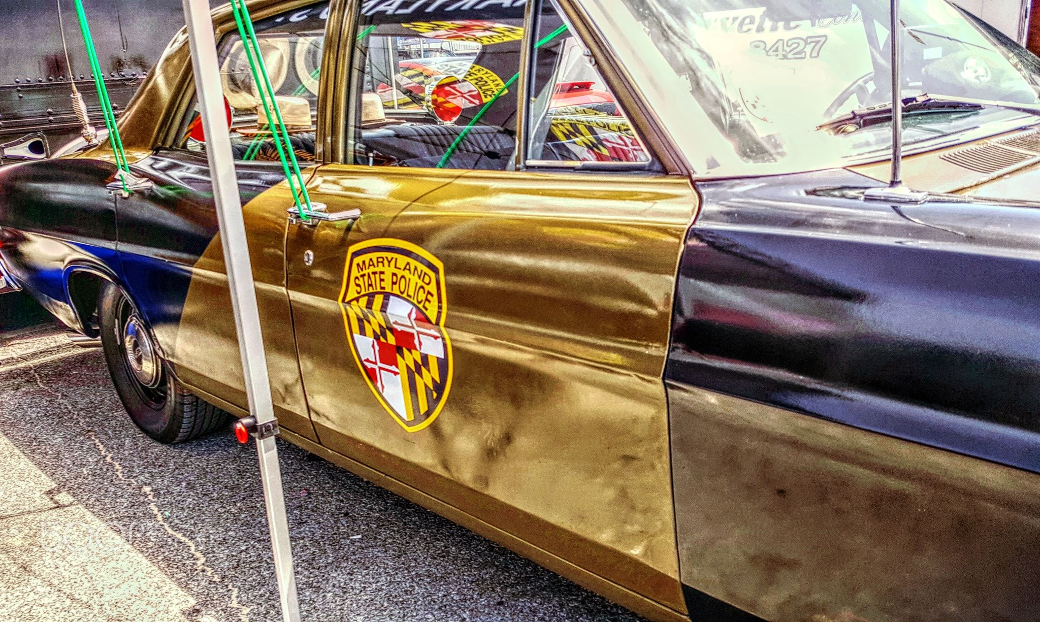 Maryland State Trooper Vintage Retired Ford Classic Police Car At The Inlet For Cruisin Ocean City Maryland May 17 State Trooper Police Cars Police