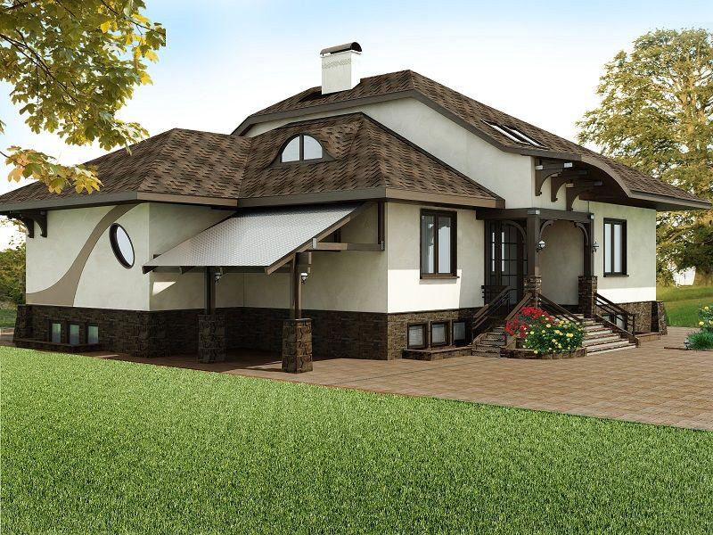 Оформление фасадов частного дома картинки